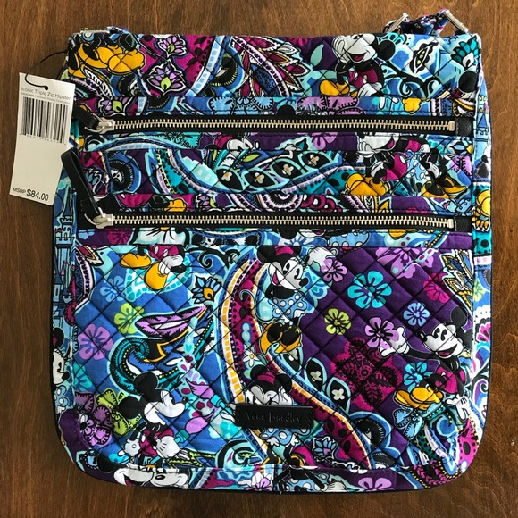 9b815a5ba2 VB Iconic Triple Zip Hipster in Mickey s Paisley C
